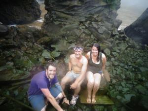 MADE IT TO THE BOTTOM!!Michael Showalter and Jaclyn in Nkongsamba, Littoral.climbed down the waterfall where tarzan was filmed